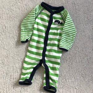 Newborn striped one piece